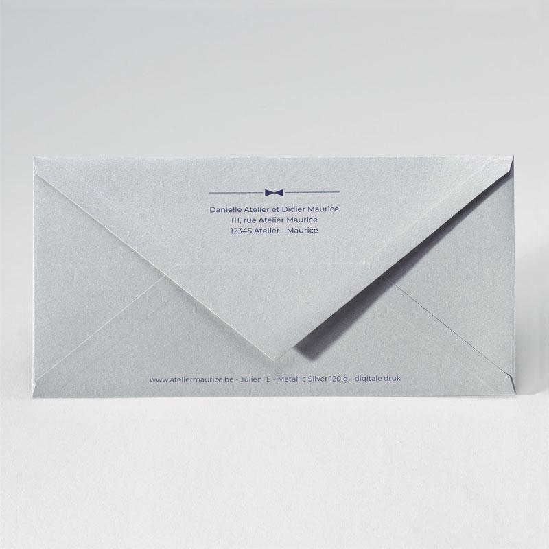Feestelijke enveloppe in metallic silver (22,0 x 11,0 cm)